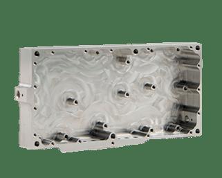 Aluminiumsdeksel med skruehull